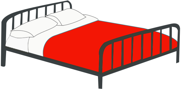 Free Double bed Clipart, 1 page of Public Domain Clip Art.