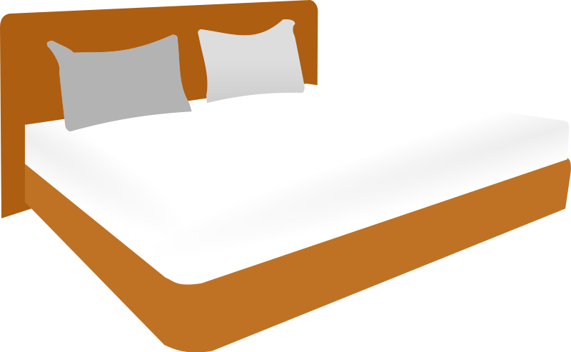 This nice double bed clip art.