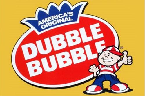 Dubble Bubble Gumballs Vending Machine Label.