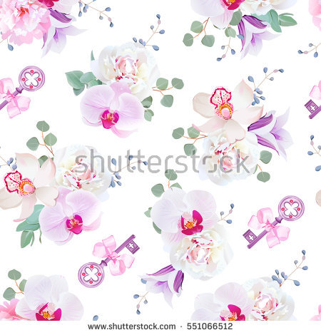 Violet Bow Stock Photos, Royalty.