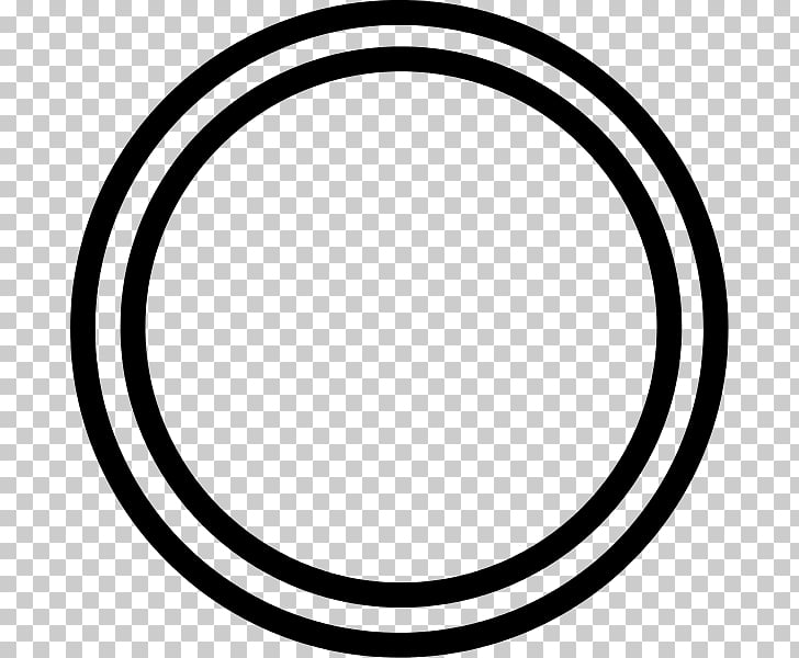White , DOUBLE Circle PNG clipart.