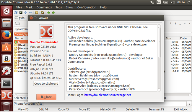 Install Double Commander in Ubuntu 14.04.
