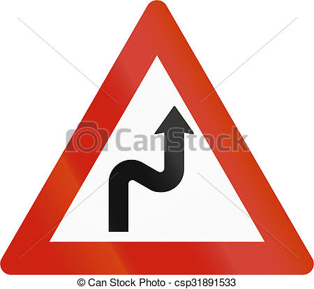 Stock Photos of Norwegian road warning sign.