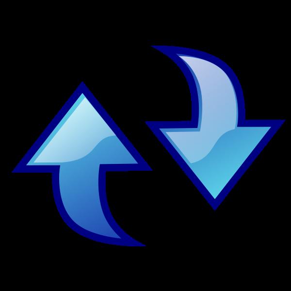 Double arrow clip art.
