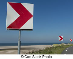 Stock Photography of Belgian warning road sign.