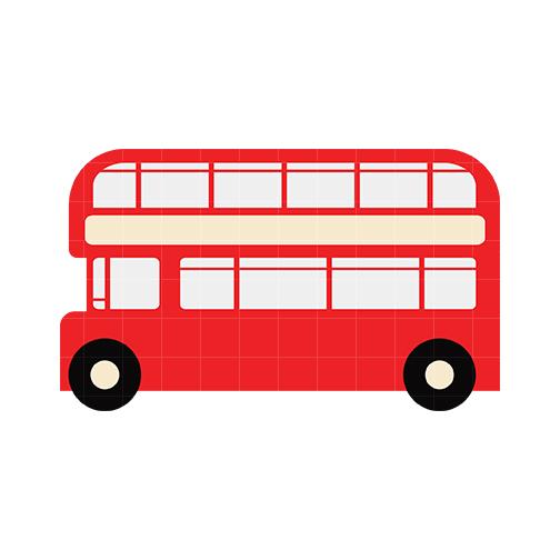 London Double Decker Bus Clipart.