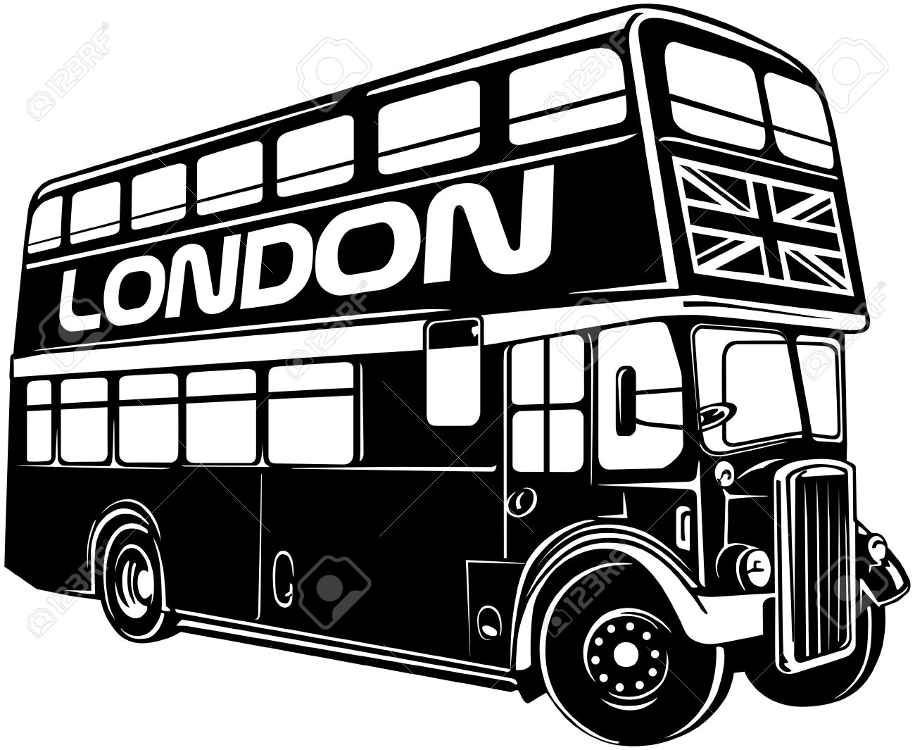Double Decker Bus Royalty Free Cliparts, Vectors, And Stock.