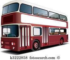 Double decker bus Clip Art Royalty Free. 528 double decker bus.