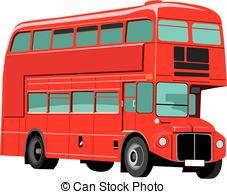 Double decker bus Vector Clipart Royalty Free. 548 Double decker.