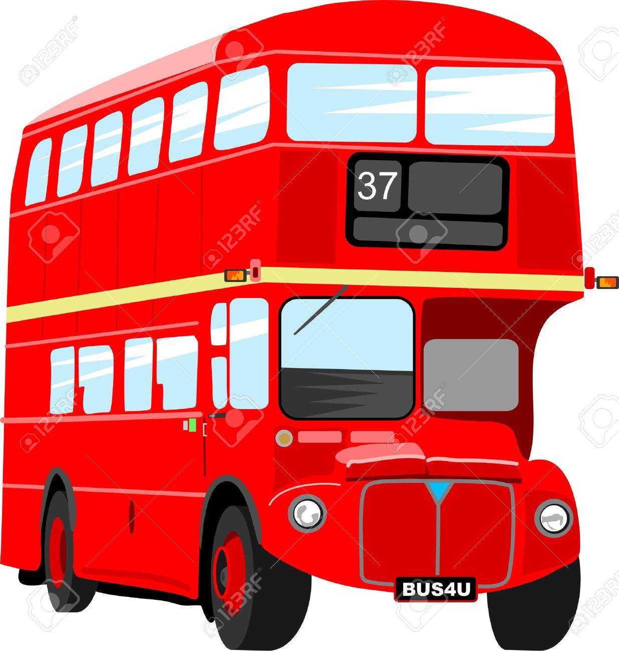 London Double Decker Bus Clipart.