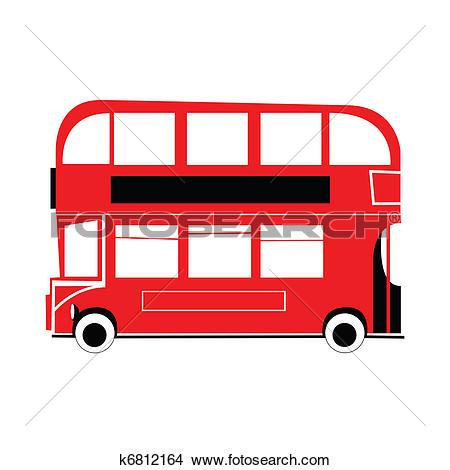 Clip Art of London double decker bus k3222919.