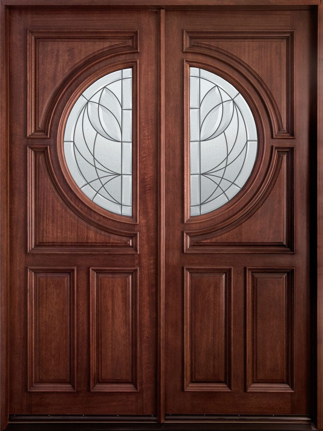 Wooden double door clipart.