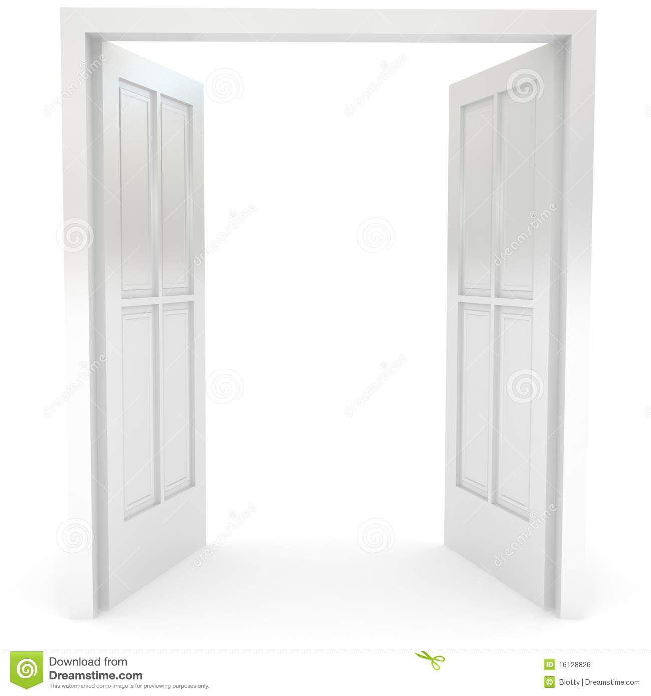 door clipart black and white. Open Double Door Clipart Over White Black And 0