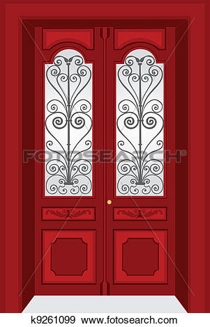 Double door Clip Art Royalty Free. 601 double door clipart vector.