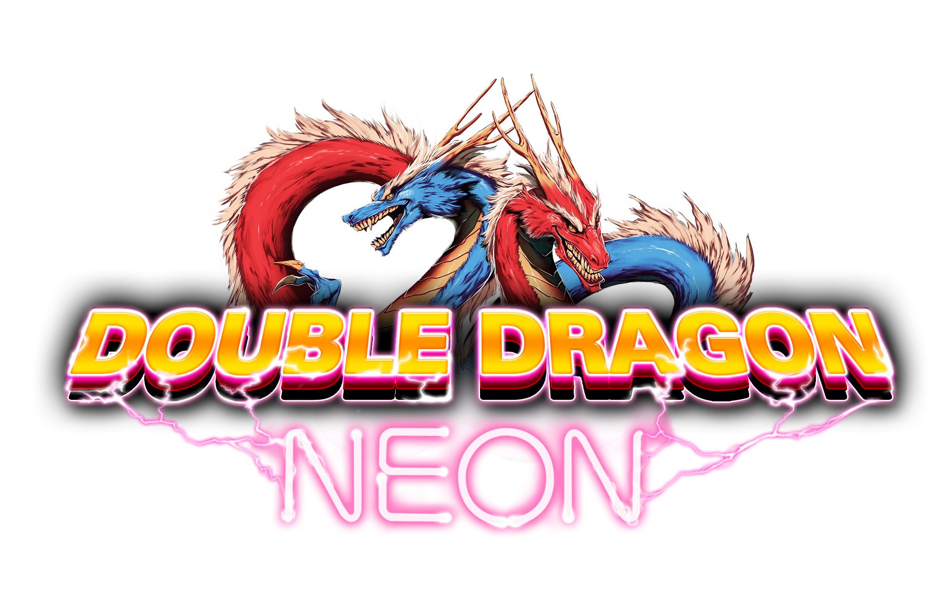 Double Dragon Neon Logo.