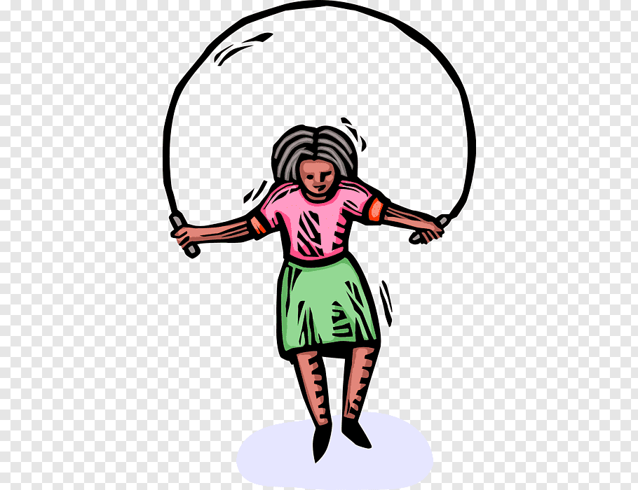 Woman, Jump Ropes, Double Dutch, Jumping, Girl, Cartoon free.