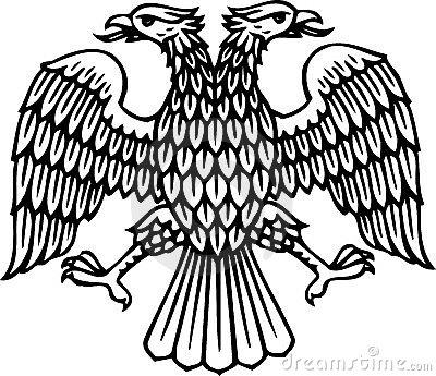 Double headed eagle clipart.