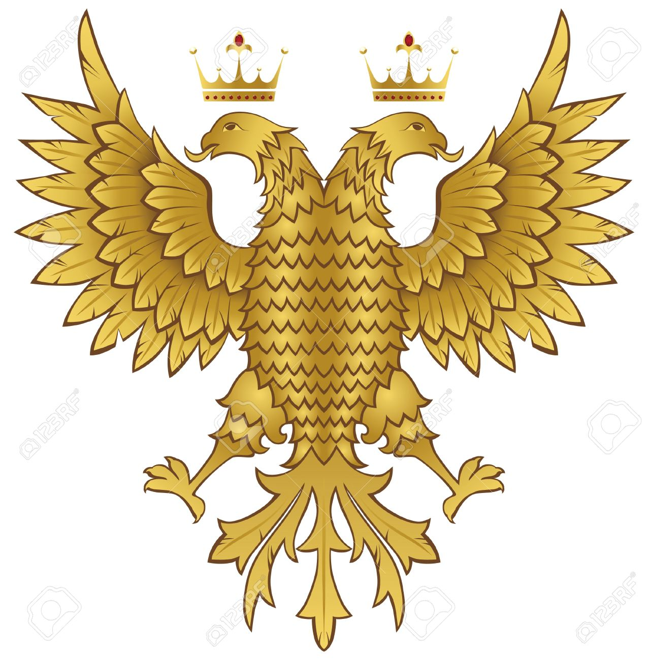 Double Headed Eagle Royalty Free Cliparts, Vectors, And Stock.