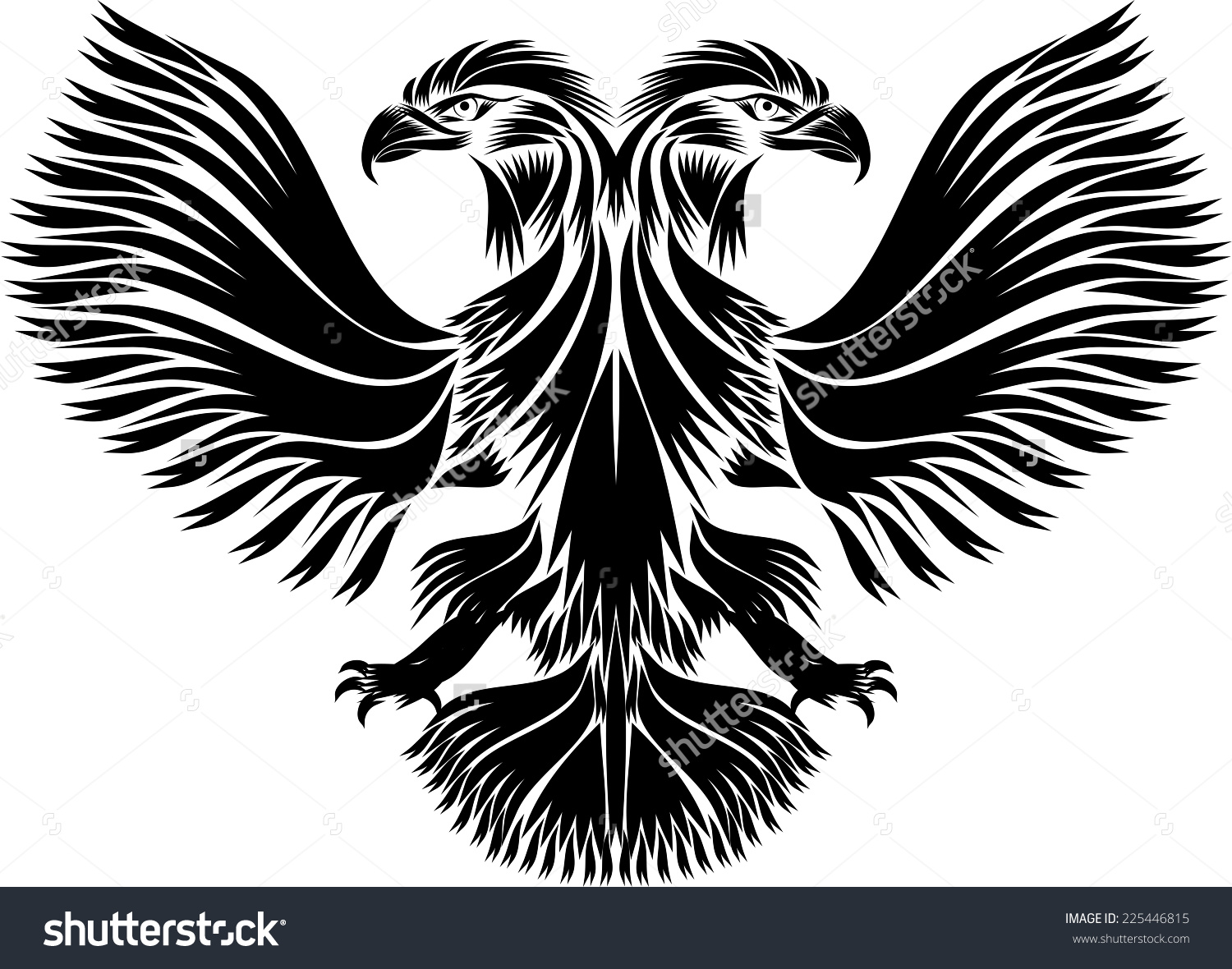 Russian Doubleheaded Eagle Stock Vector 225446815.