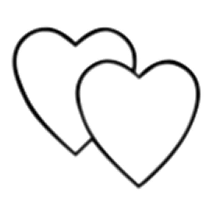 Double heart clipart images.