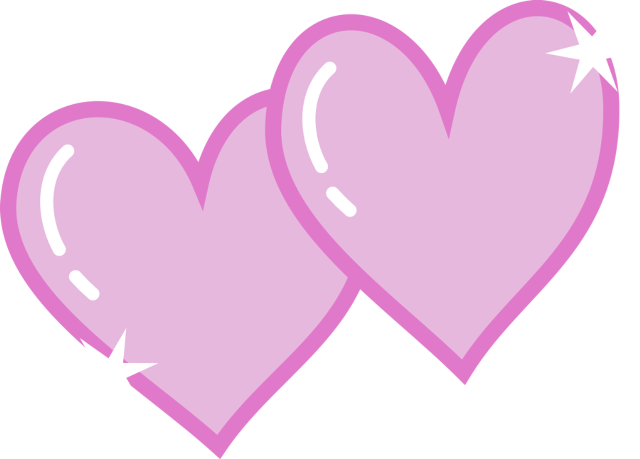 Pink double heart clipart.