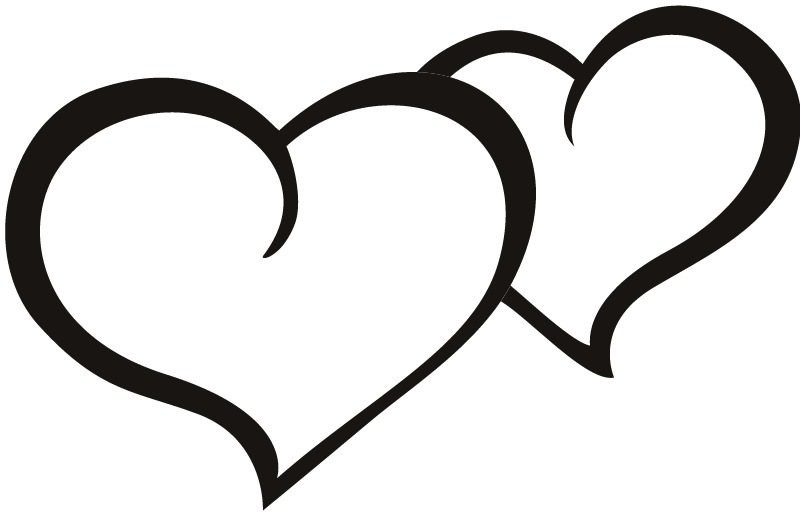 double heart coloring pages - photo#29