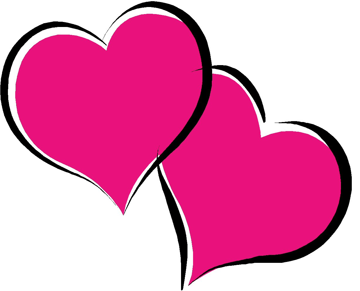 Double heart light purple heart clipart free images.