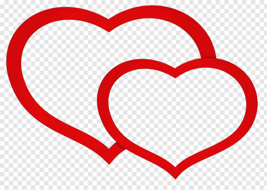 Two red heart illustration, VK Blog Social network Telegram.