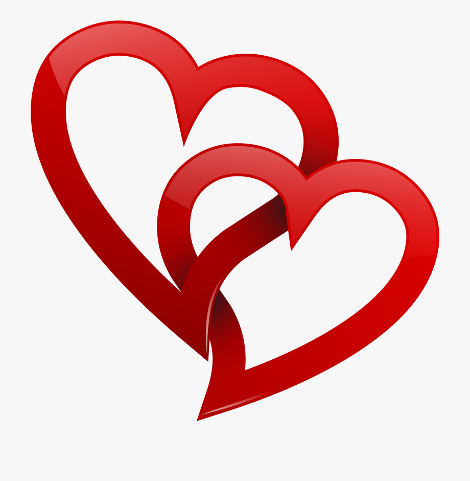 Two Red Hearts Png Clipart Wedding Heart Clipart Png.
