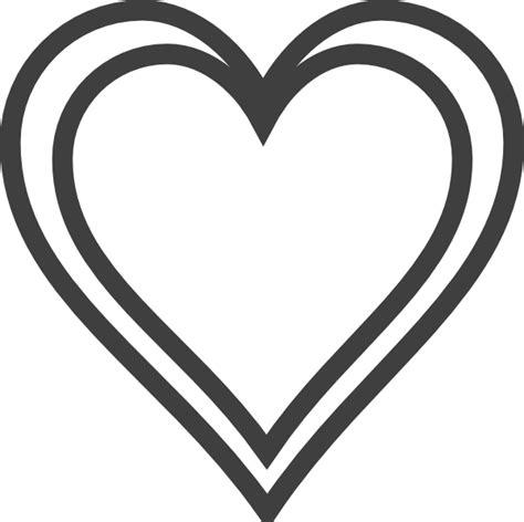 Double Heart Clip Art Silhouette.