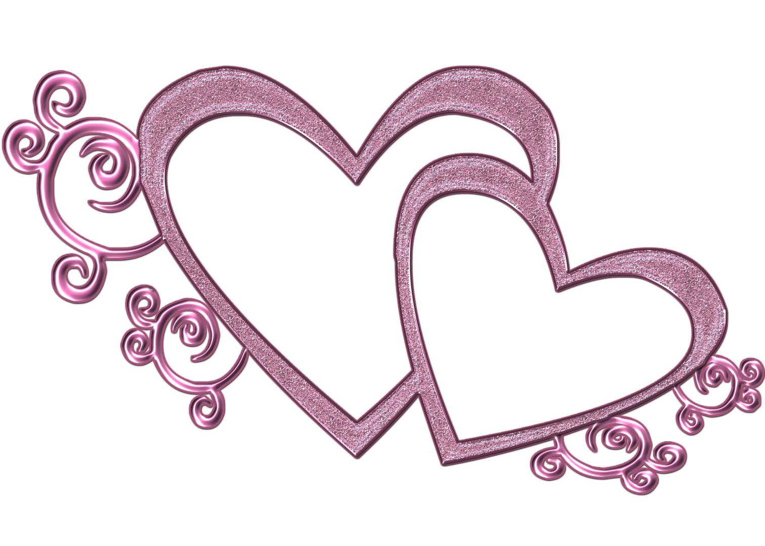 Wedding two heart svg freeuse png files, Free CLip Art Download.