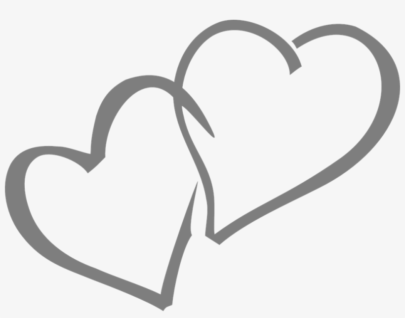 Double Heart Clipart Black And White.