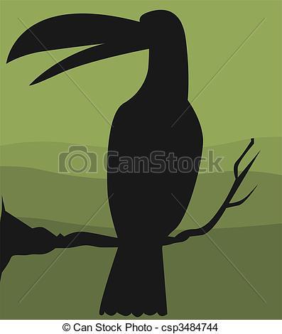 Drawing of Hornbill.