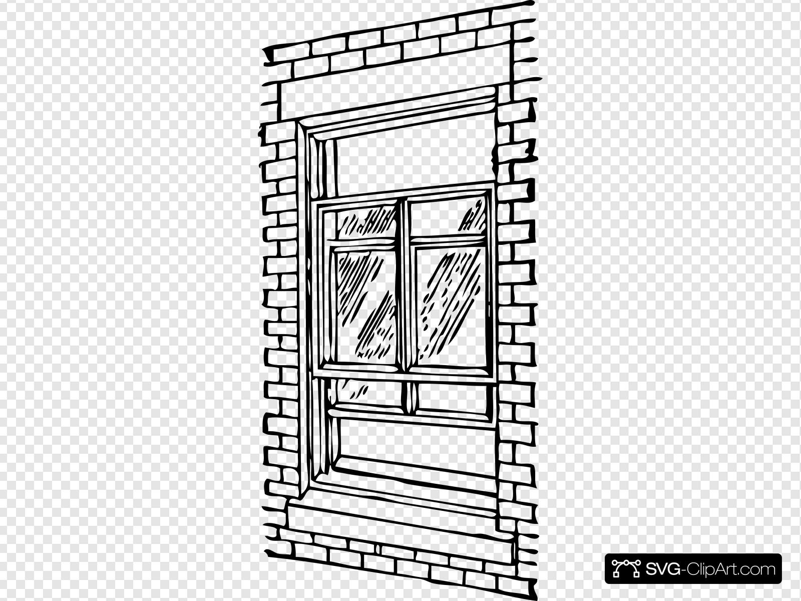Double Hung Window Clip art, Icon and SVG.