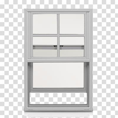 White frame window, Single Hung White Sash Window.