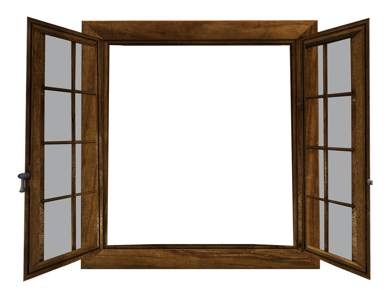 Window Twin Double Hung Two Sides Open transparent PNG.