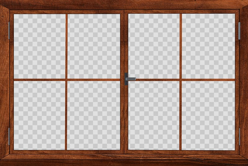 Brown wooden window , Window Twin Double Hung transparent.