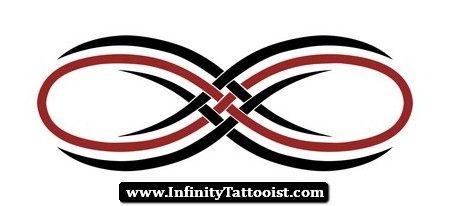 Tribal Infinity Symbol Tattoo Design.
