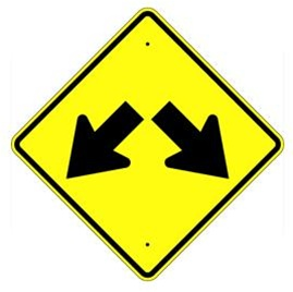 DOUBLE LANE ARROW Sign.