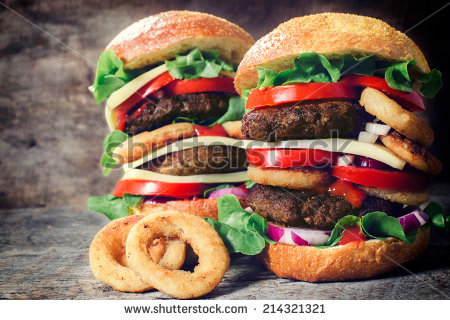 Huge Burger Stock Photos, Royalty.