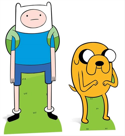 Finn and Jake from Adventure Time Cardboard Cutout / Standee.