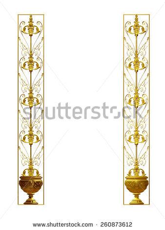 Window Frame Columns Gold Stock Illustration 69410719.