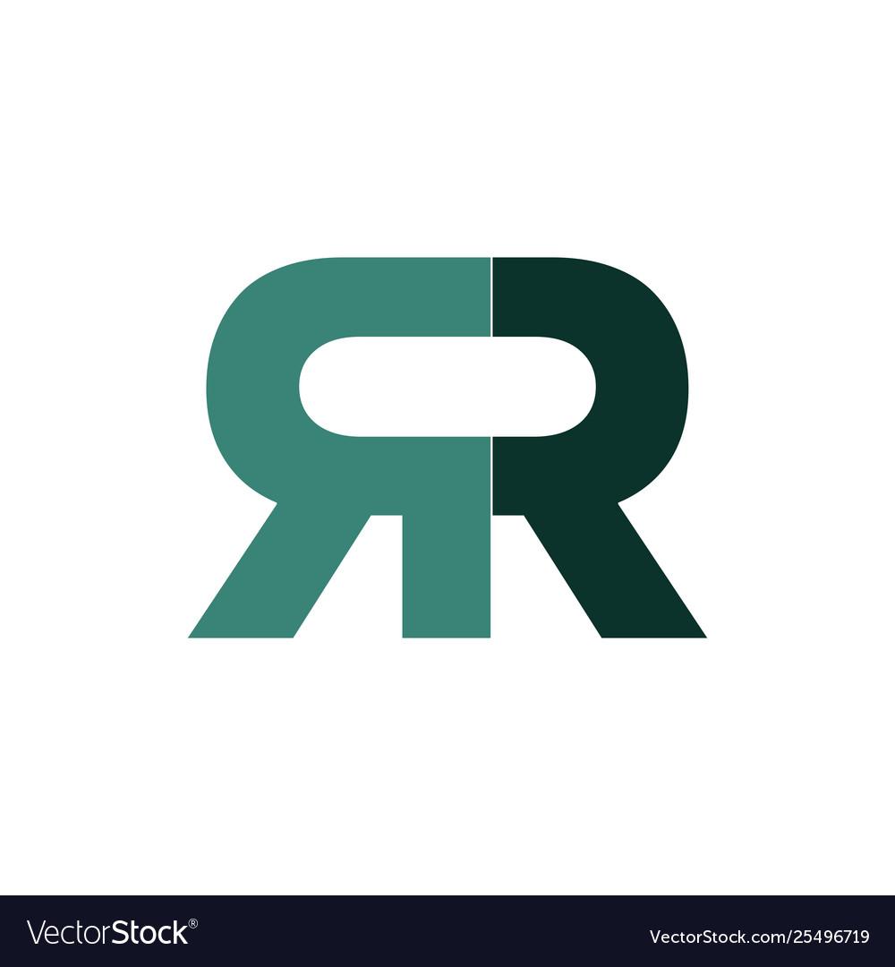 Green double r logo type.