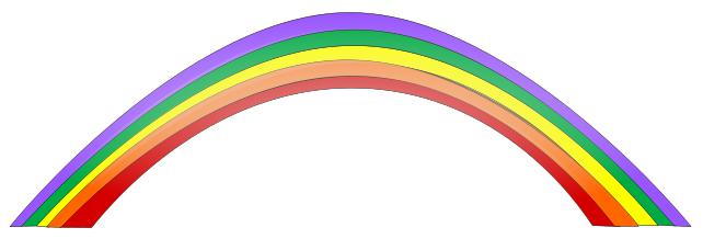 Free rainbow clip art.