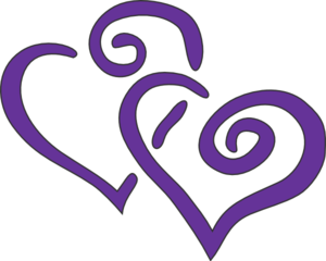 Double Hearts Clipart.
