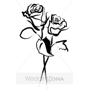 Two Roses in Outline.