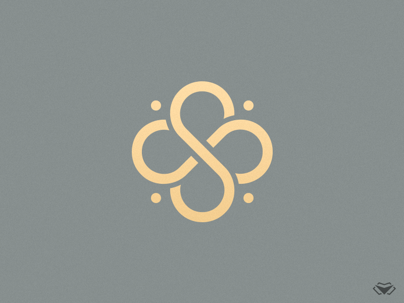 Double S Clover Logo by visual curve on Dribbble.
