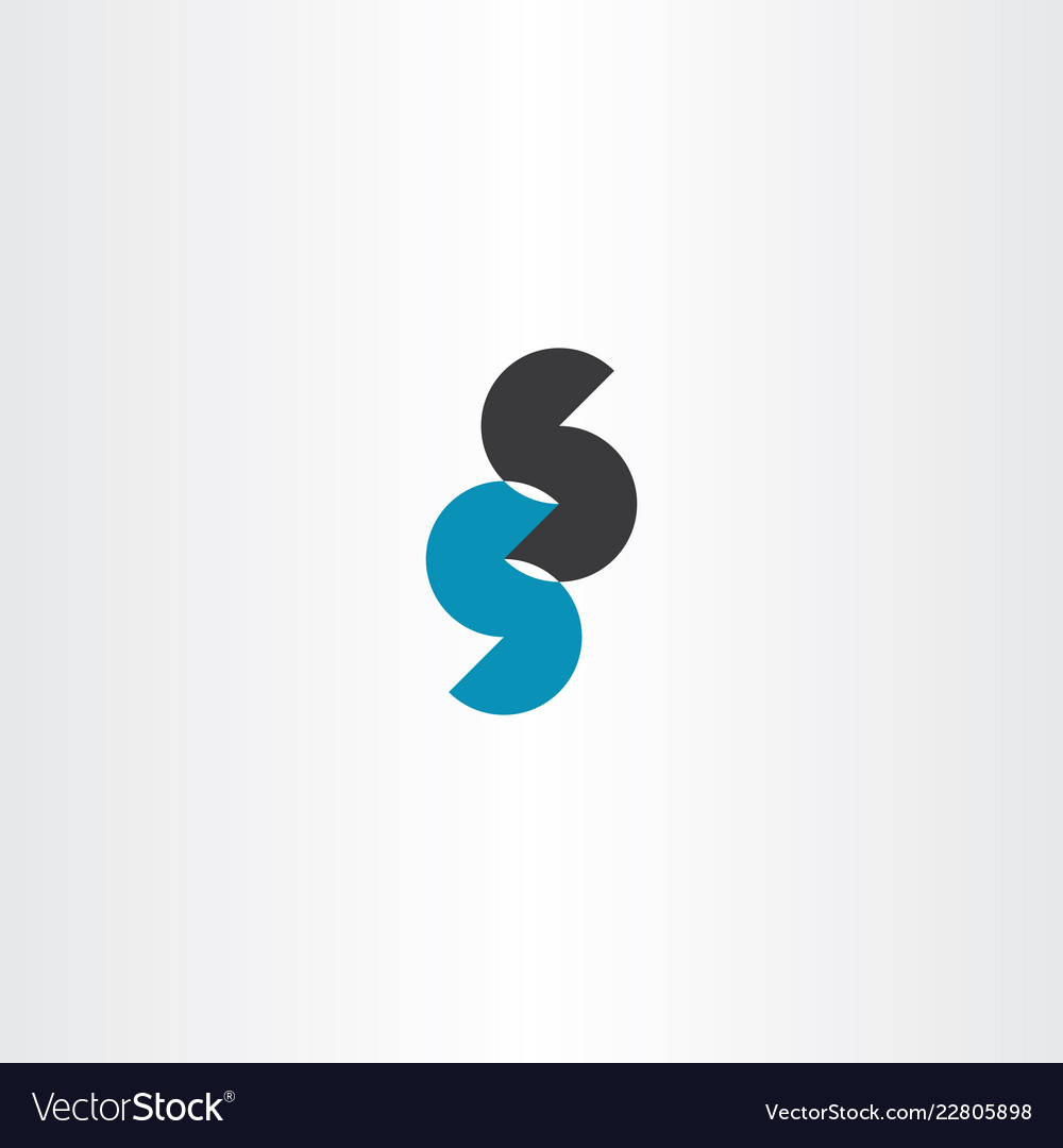 Double s letter logo sign icon element.