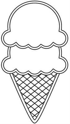 Double Scoop Ice Cream Clipart.