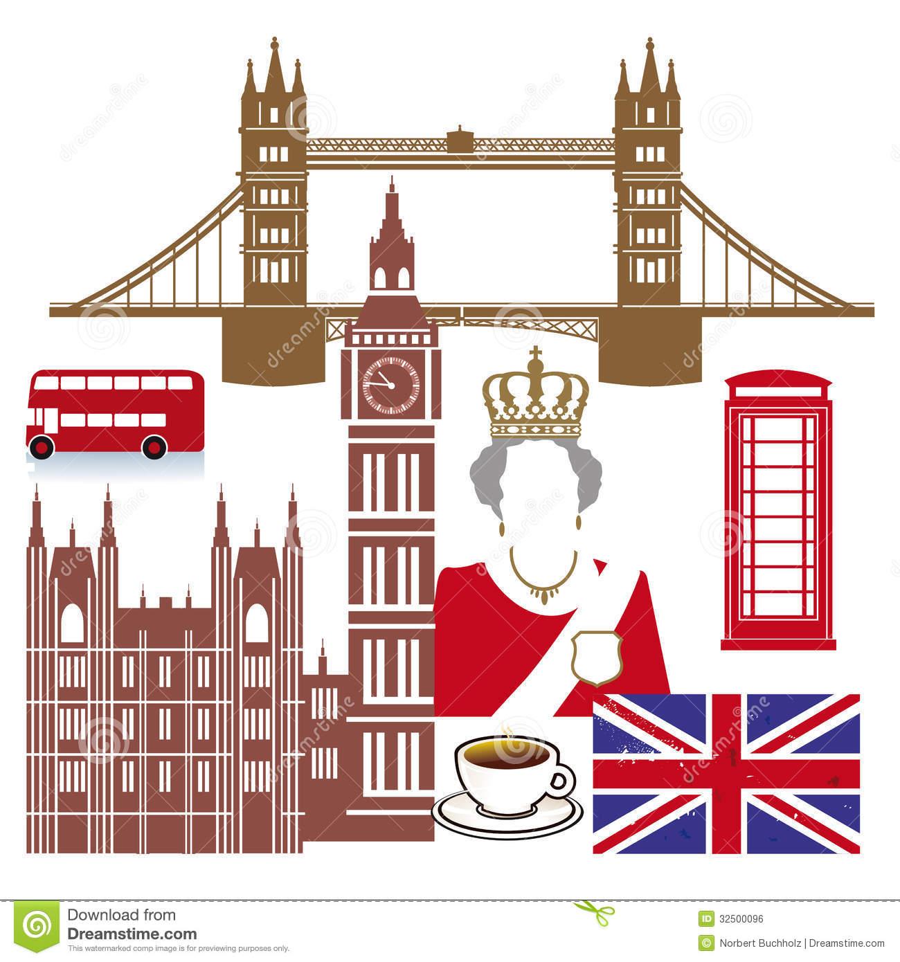 English Icons Royalty Free Stock Image.